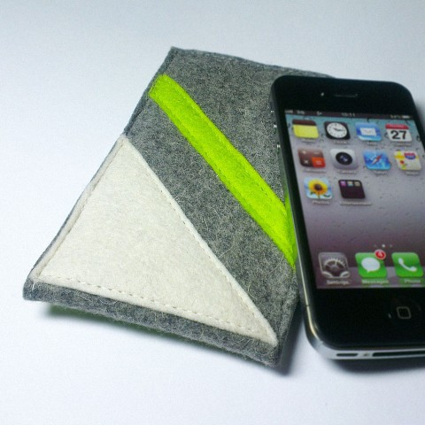 iPhone 4 Case - Frost and Neon Parallel