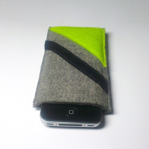 iPhone 4 Case - Neon and Noir Parallel