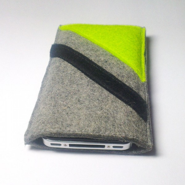 iPhone 4S Case - Neon and Noir Parallel