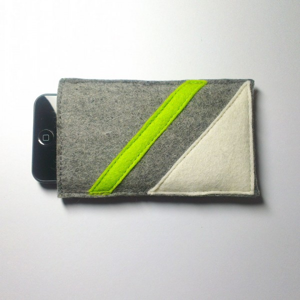 iPhone 5 Case - Frost and Neon Parallel