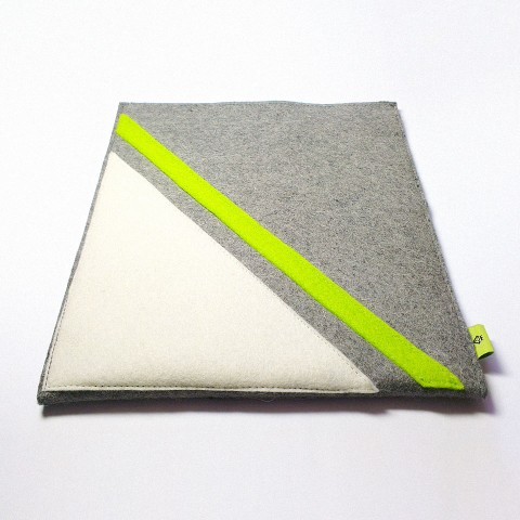 iPad 4 Case - Frost and Neon Parallel
